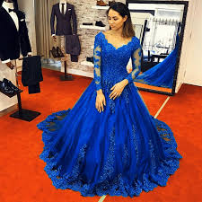 blue wedding dresses vintage royal blue wedding dresses lace sleeves gowns