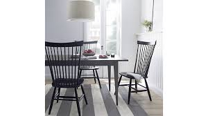 Marlow II Wood Dining Chair Crate And Barrel - Black wood dining room chairs