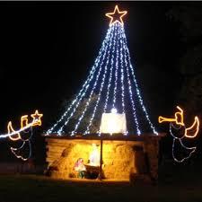 santa land here lighted sign christmas park land of lights home facebook
