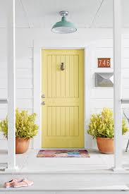 yellow front door 5 colorful themes for your front door front door makeover ideas