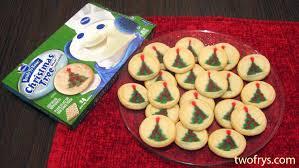 two frys pillsbury christmas tree shape sugar cookies