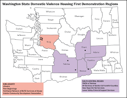 County Map Washington State by Demonstration Project U2013 Washington State Coalition Against