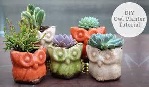 owl planter home decor ideas hobby ideas clay art u0026 craft