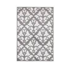 White Accent Rug Jean Pierre Mira Grey Soft White 2 Ft 4 In X 4 Ft Loop Accent