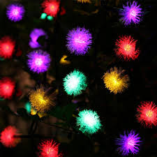 chuzzle ball 20 led solar christmas lights multi color qedertek