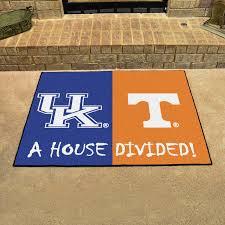 fanmats ncaa house divided kentucky tennessee house divided mat