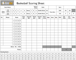 Stat Sheet Template Stats Youth Basketball How To Keep Part 1