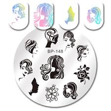 halloween face decals 2 99 halloween theme nail art stamp template image plate born