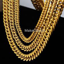 gold plated curb necklace images 24k gold plated cuban curb chain 9 14mm 24 quot 30 quot 36 quot long young jpg