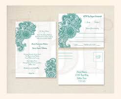 Wedding Invitations With Rsvp Cards Included Rsvp Postcards Handmade Elegant Mehndi Wedding Invitation Rsvp