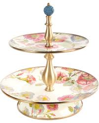 mackenzie childs l sale mackenzie childs morning glory cake stand two tier