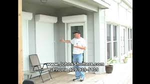 hurricane shutters home door security and home window security mp4