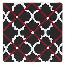 amazon com sweet jojo designs red black and white trellis
