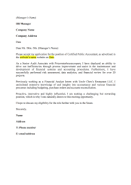 Sample Resume For Finance Financial Accountant Cover Letter