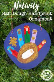 nativity handprint salt dough ornament activities