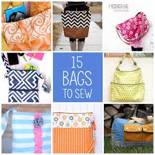 15 more bags to sew projects