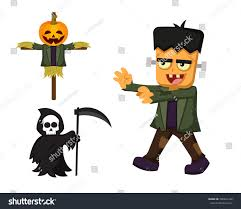 cute halloween monster character set stock vector 500641246