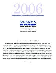 Bed Bath And Beyond Bloomington In Bed Bath U0026 Beyond Inc Annualreports Com