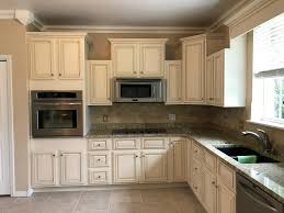 Cream Kitchen Cabinets With Glaze Lighter And Brighter Kitchen Cabinets