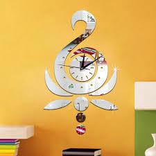 Decorative Wall Clocks For Living Room Online Get Cheap Lotus Wall Clock Aliexpress Com Alibaba Group