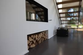 Wohnzimmer Modern Mit Ofen Deko Hinter Kaminofen Wandgestaltung Riemchen Innen Gips
