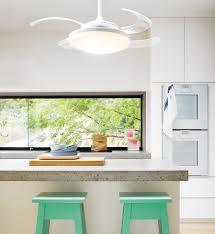 kitchen fans with lights fanaway evo2 endure white ceiling fan with clear retractable