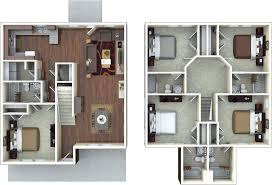 Floorplanes by Student Apartment Floorplans The Retreat