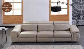 Four Seater Recliner Sofa Monza Modular Sofa Top Grain Leather Luxury Delux Deco
