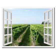 vineyard home decor wine vineyard ontario canada picture window wall art home decor