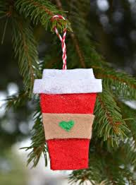 felt coffee cup starbucks ornaments diy ideas