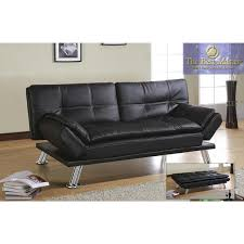 best futon sofa bed h250 adjustable futon sofa bed in black faux leather by best