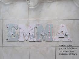 lettre chambre enfant lettre prénom bois décoration chambre enfant et bébé prénom en