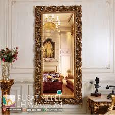 Cermin Brown frame decorasi cermin ukiran racoco gold meja rias cermin