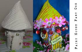 part one how to make a fairy house from cardboard and a recycled