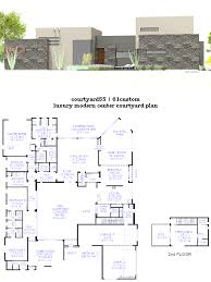 house plan with courtyard courtyard house plans 61custom contemporary modern beauteous plan