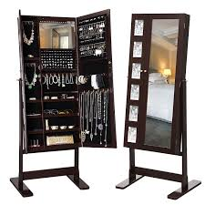 mirror jewelry armoires 25 beautiful standing mirror jewelry armoires zen merchandiser