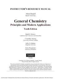 test bank for general chemistry principles and modern applications