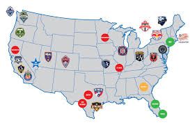 The United States And Canada Political Map by United States National Women U0027s Soccer League U2013 Soccer Politics