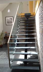 steel u0026 glass open plan staircase with wooden treads the glass