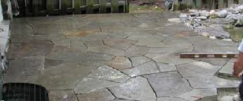 How To Make A Flagstone Patio With Sand Stone Patio Patio Pavers Landscaping Gastonia North Carolina Nc