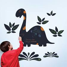 dinosaur wall decals totally kids totally bedrooms kids chalkasaurus wall stickers