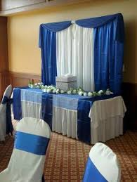 wedding backdrop blue royal blue table with backdrop designed by decorative