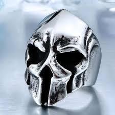 cool skull rings images Big biker skull ring lookbadass jpg