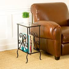 nifty living room wooden single drawer narrow end table bottom