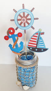 Sailboat Centerpieces Nautical Theme - nautical baby shower table centerpiece by lillovebugscreations