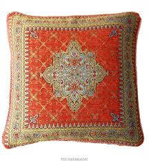 moroccan style tapestry cushion cover terracotta 17 x 17 43cm next