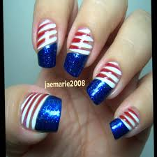 cute fourth of july nails design