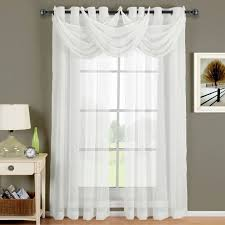 Privacy Sheer Curtains Fascinating Sheer Curtain Swags 58 About Remodel Modern Home With
