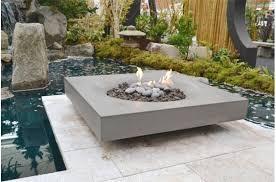 Firepit Garden Modern Zen Garden With Halo Pit By Solus Contemporary