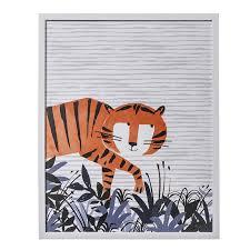 Adairs Kids Designer Wall Art Tip Toe Tiger Home  Gifts Wall - Wall art designer